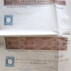 Sellos: HOJA COMPLETA PAGOS AL ESTADO AÑO 1888 - 8ª CLASE 2 PESETAS - MOTILLA DEL PALANCAR (CUENCA). Lote 130245482
