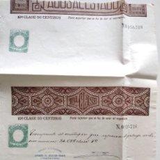 Sellos: HOJA COMPLETA PAGOS AL ESTADO AÑO 1888 - 10ª CLASE 50 CÉNTIMOS - MOTILLA DEL PALANCAR (CUENCA). Lote 130245542