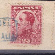 Sellos: VV12- ALFONSO XIII/ DERECHO DE ENTREGA FRAGMENTO MATASELLOS CARTERÍA SANTA EULALIA TERUEL. Lote 130548918