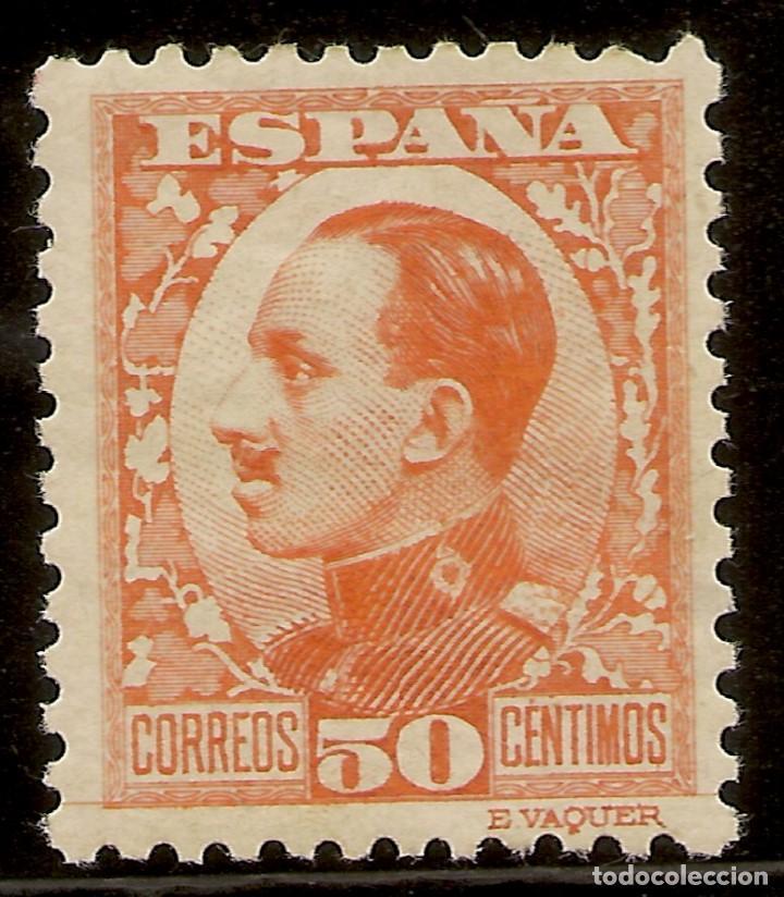 ESPAÑA EDIFIL 498* MH 50 CÉNTIMOS NARANJA VAQUER 1930/31 NL1151 (Sellos - España - Alfonso XIII de 1.886 a 1.931 - Nuevos)