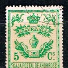 Sellos: CAJA POSTAL DE AHORROS,1918-1928, CATALOGO GALVEZ Nº 145, USADO. Lote 130988216