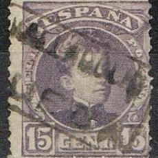 Sellos: 0534. SELLO 15 CTS ALFONSO XIII, CARTERIA RUEDA (VALLADOLID), NUM 245 º. Lote 131027492