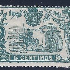 Sellos: EDIFIL 257 III CENTENARIO PUBLICACIÓN DE EL QUIJOTE 1905. MNH **. Lote 131216580