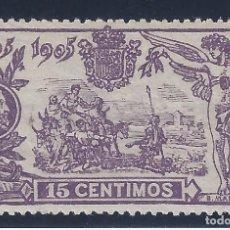 Sellos: EDIFIL 259 III CENTENARIO PUBLICACIÓN DE EL QUIJOTE 1905. MNH **. Lote 131218808