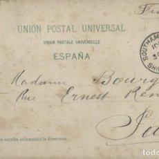 Sellos: CANARIAS. POSTAL DE 1905 DE SANTA CRUZ DE TENERIFE A PARÍS POR BARCO INGLES.. Lote 131574534