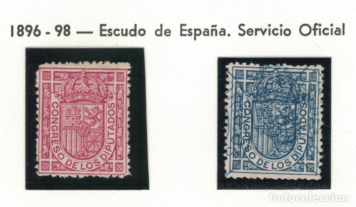 ALFONSO XIII 1896-98 PAREJA. S034 (Sellos - España - Alfonso XIII de 1.886 a 1.931 - Usados)