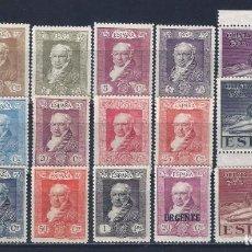 Sellos: EDIFIL 499-516 QUINTA DE GOYA 1930 (SERIE COMPLETA). VALOR CATÁLOGO: 95 €. LUJO. MNH **. Lote 133358382