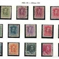 Sellos: ALFONSO XIII 1922-30 14 SELLOS. COLECCIÓN COMPLETA. S044. Lote 134317414