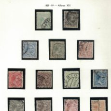 Sellos: ALFONSO XIII 1889-99 14 SELLOS S032. Lote 134319370