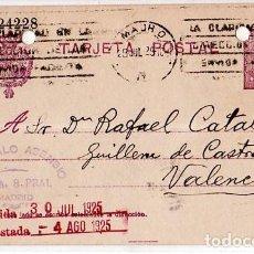 Sellos: TARJETA POSTAL ALFONSO XIII.. Lote 134755866