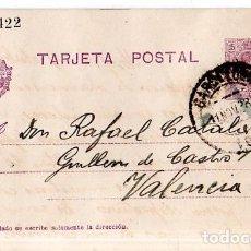 Sellos: TARJETA POSTAL ALFONSO XIII.. Lote 134756170