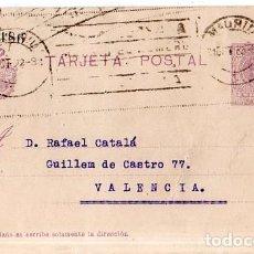 Sellos: TARJETA POSTAL ALFONSO XIII.. Lote 134756642