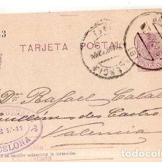 Sellos: TARJETA POSTAL ALFONSO XIII.. Lote 134756758