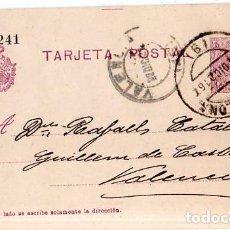 Sellos: TARJETA POSTAL ALFONSO XIII.. Lote 134756822