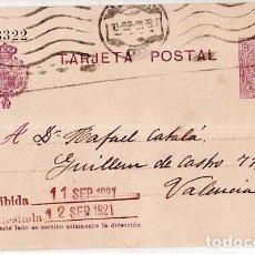 Sellos: TARJETA POSTAL ALFONSO XIII.. Lote 134757006