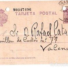 Sellos: TARJETA POSTAL ALFONSO XIII.. Lote 134757110
