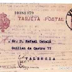 Sellos: TARJETA POSTAL ALFONSO XIII.. Lote 134757158