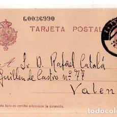 Sellos: TARJETA POSTAL ALFONSO XIII.. Lote 134757234