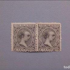 Sellos: ESPAÑA -1889-1901 - ALFONSO XIII - EDIFIL 214 - PAREJA - MH* - NUEVO - VALOR CATALOGO 125€. Lote 134960238