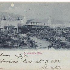 Sellos: F2-10- POSTAL HOTEL SANTA CATALINA LAS PALMAS 1910. MARCAS PAQUEBOT . Lote 135016066
