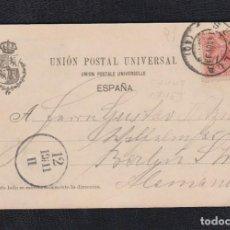 Sellos: 1899.- SEVILLA A ALEMANIA. EDIFIL 218. Lote 135710351