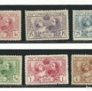 Sellos: 1907, EDIFIL SR1 A SR6, CON GOMA, CON CHARNELA. Lote 135815410