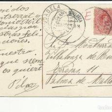 Sellos: POSTAL CIRCULADA 1916 DE CIUDADELA A PALMA DE MALLORCA VER FOTO . Lote 136184110