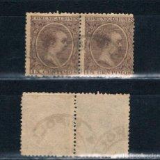 Sellos: ESPAÑA 1899/1899 PELON 15CTS DOBLE . Lote 136399294