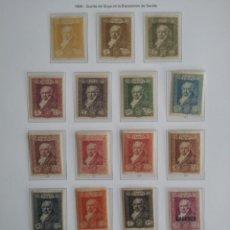 Sellos: ESPAÑA EDIFIL 499/516* NUEVOS LUJO CON FIJASELLOS GOYA EXPOSICIÓN DE SEVILLA 1930. Lote 136854834