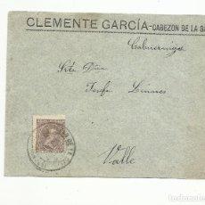 Sellos: CIRCULADA DE CABEZON DE LA SAL A VALLE SANTANDER. Lote 137150626