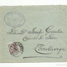 Sellos: CIRCULADA 1897 DE TORRELAVEGA A SANTANDER. Lote 137150854
