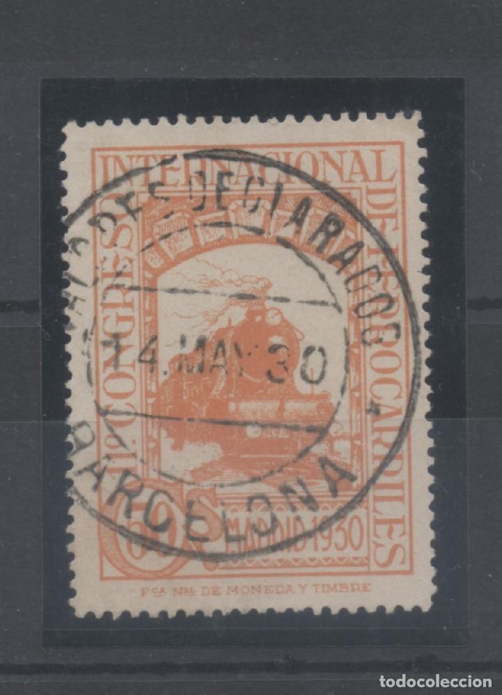 ESPAÑA_EDIFIL Nº 478_CONGRESO DE FERROCARRILES_MATASELLADO_VER FOTOS (Sellos - España - Alfonso XIII de 1.886 a 1.931 - Usados)