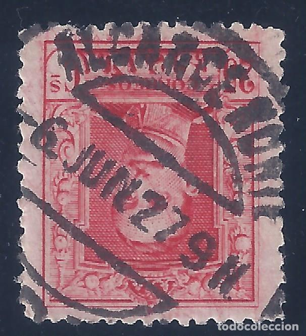 EDIFIL 317 ALFONSO XIII. TIPO VAQUER 1922-1930. EXCELENTE MATASELLOS ALCANCE NORTE 06-06-1927. LUJO. (Sellos - España - Alfonso XIII de 1.886 a 1.931 - Usados)
