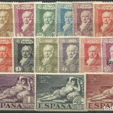 Sellos: SERIE DE GOYA PARA CORREO TERRESTRE CON CHARNELA. Lote 139054182