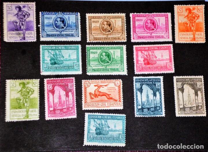 Sellos: EXPOSICIONES INTERNACIONALES DE SEVILLA Y BARCELONA. EMISIÓN DE SELLOS CONMEMORATIVOS 1929 - Foto 2 - 139132650