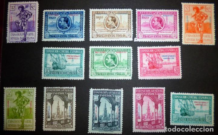 Sellos: EXPOSICIONES INTERNACIONALES DE SEVILLA Y BARCELONA. EMISIÓN DE SELLOS CONMEMORATIVOS 1929 - Foto 4 - 139132650