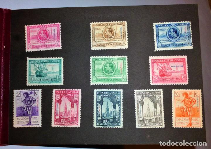 Sellos: EXPOSICIONES INTERNACIONALES DE SEVILLA Y BARCELONA. EMISIÓN DE SELLOS CONMEMORATIVOS 1929 - Foto 12 - 139132650
