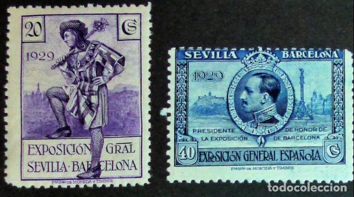 Sellos: EXPOSICIONES INTERNACIONALES DE SEVILLA Y BARCELONA. EMISIÓN DE SELLOS CONMEMORATIVOS 1929 - Foto 16 - 139132650
