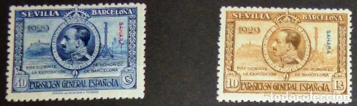 Sellos: EXPOSICIONES INTERNACIONALES DE SEVILLA Y BARCELONA. EMISIÓN DE SELLOS CONMEMORATIVOS 1929 - Foto 20 - 139132650