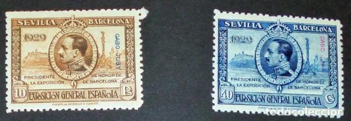 Sellos: EXPOSICIONES INTERNACIONALES DE SEVILLA Y BARCELONA. EMISIÓN DE SELLOS CONMEMORATIVOS 1929 - Foto 21 - 139132650