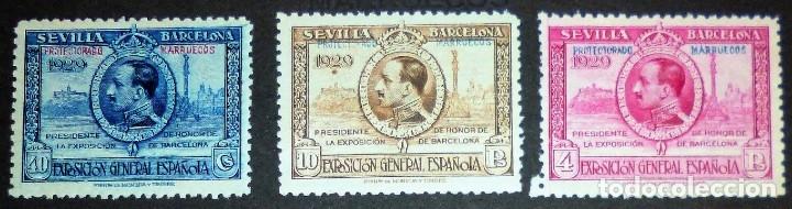 Sellos: EXPOSICIONES INTERNACIONALES DE SEVILLA Y BARCELONA. EMISIÓN DE SELLOS CONMEMORATIVOS 1929 - Foto 18 - 139132650