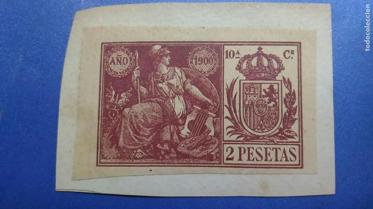 SELLO FISCAL NOTARIAL AÑO 1900. 10ª C. 2 PESETAS (Sellos - España - Alfonso XIII de 1.886 a 1.931 - Usados)
