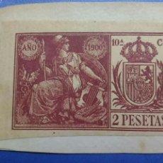 Sellos: SELLO FISCAL NOTARIAL AÑO 1900. 10ª C. 2 PESETAS. Lote 139443450