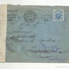 Sellos: CIRCULADA 1917 DE SEVILLA A ZURICH Y A BRUGG SUIZA CON CENSURA MILITAR. Lote 139490658