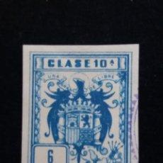 Sellos: TIMBRE CLSE 10 A.- 6 PESETAS. Lote 139968102