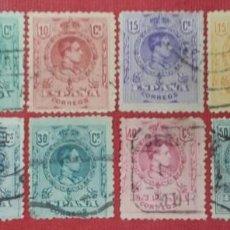 Sellos: ESPAÑA. ALFONSO XIII, 1909-1922. 12 VALORES (Nº 267-278 EDIFIL). Lote 140006658