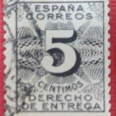 Sellos: SELLOS, ESPAÑA. DERECHO DE ENTREGA, 1931. 5 CTS. NEGRO (Nº 592 EDIFIL). . Lote 140017482