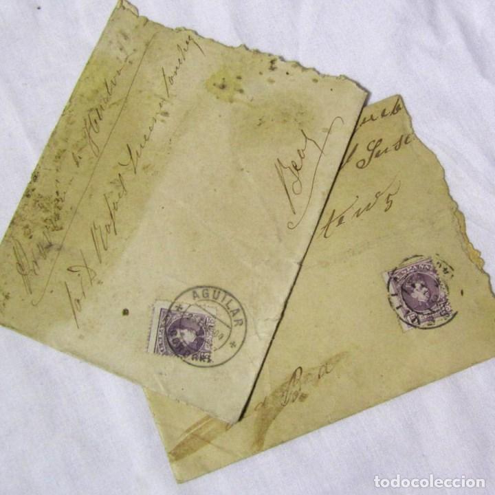 2 SOBRES PRIMERA DÉCADA SIGLO XX (UNA DE ELLAS ES DE 1904) PROVINCIA DE HUELVA (Sellos - España - Alfonso XIII de 1.886 a 1.931 - Cartas)