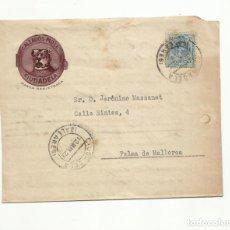 Sellos: FRONTAL CIRCULADA 1923 CALZADOS MOLL DE CIUDADELA A PALMA. Lote 140506802