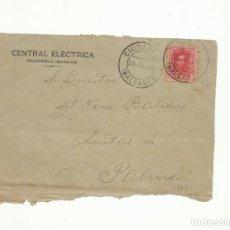 Sellos: FRONTAL CIRCULADA 1926 DE CENTRAL ELECTRICA CIUDADELA BALEARES A PALMA DE MALLORCA. Lote 140508002